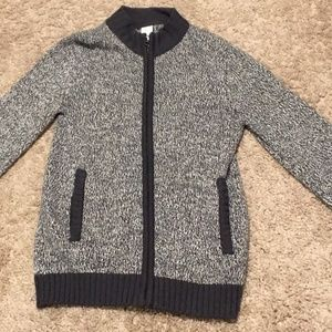 Gymboree boys zip up sweater jacket size M 7/8